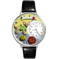 Chihuahua Watch in Silver (Large)