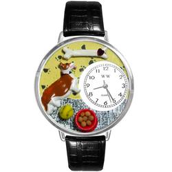 Corgi Watch in Silver (Large)
