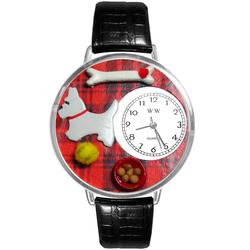 Westie Watch in Silver (Large)