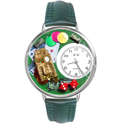 Casino Watch in Silver (Large)