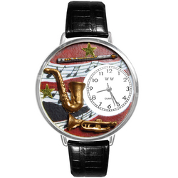 Wind Instruments Watch in Silver (Large)