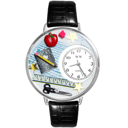 Teacher Watch in Silver (Large)