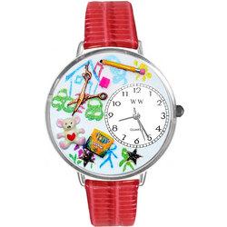 Preschool Teacher Watch in Silver (Large)
