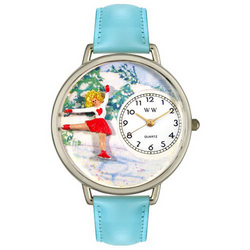 Ice Skating Watch in Silver (Large)