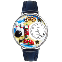 Bowling Watch in Silver (Large)