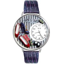 Shoe Shopper Watch in Silver (Large)