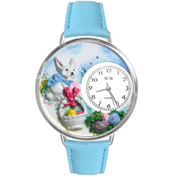 Easter Eggs Watch in Silver (Large)