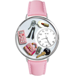 Teen Girl Watch in Silver (Large)