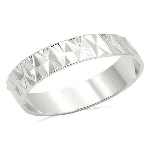 LO980 - Brass Ring Imitation Rhodium Unisex No Stone No Stone