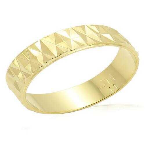 LO981 - Brass Ring Gold Unisex No Stone No Stone