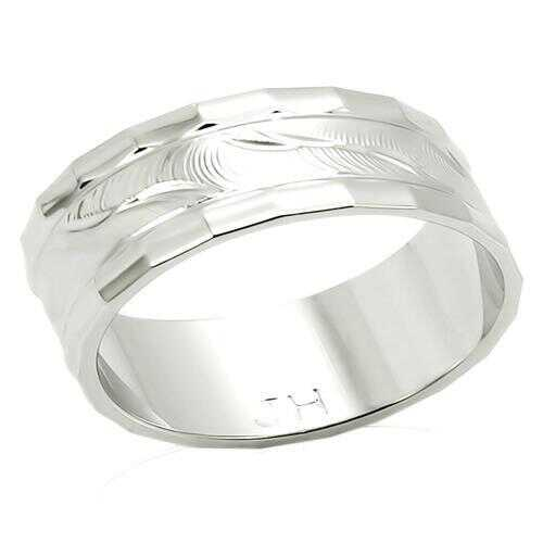 LO982 - Brass Ring Imitation Rhodium Unisex No Stone No Stone