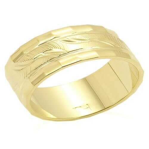 LO983 - Brass Ring Gold Unisex No Stone No Stone
