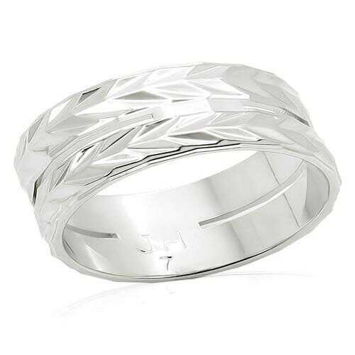LO984 - Brass Ring Imitation Rhodium Unisex No Stone No Stone