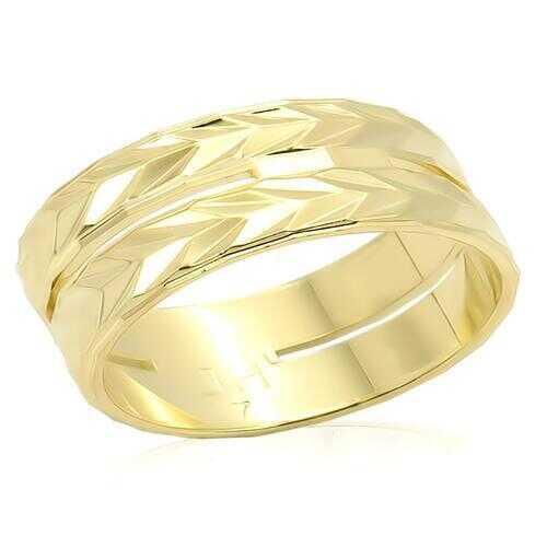 LO985 - Brass Ring Gold Unisex No Stone No Stone