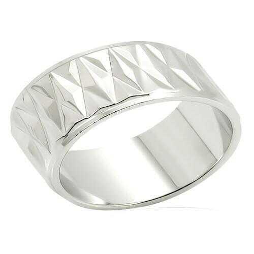 LO986 - Brass Ring Imitation Rhodium Unisex No Stone No Stone