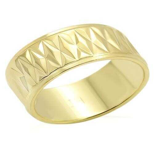 LO987 - Brass Ring Gold Unisex No Stone No Stone