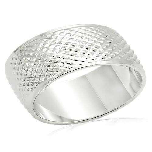 LO988 - Brass Ring Imitation Rhodium Unisex No Stone No Stone
