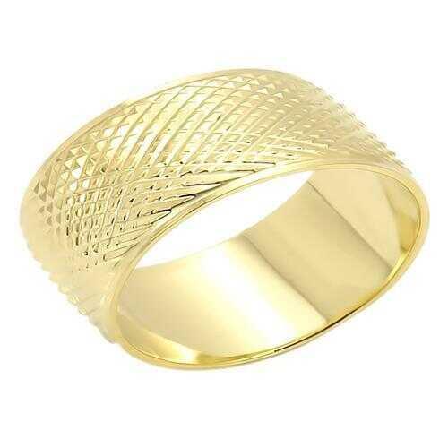 LO989 - Brass Ring Gold Unisex No Stone No Stone