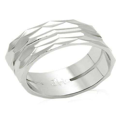 LO990 - Brass Ring Imitation Rhodium Unisex No Stone No Stone
