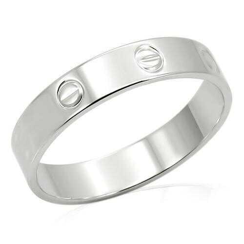 LO992 - Brass Ring Imitation Rhodium Unisex No Stone No Stone