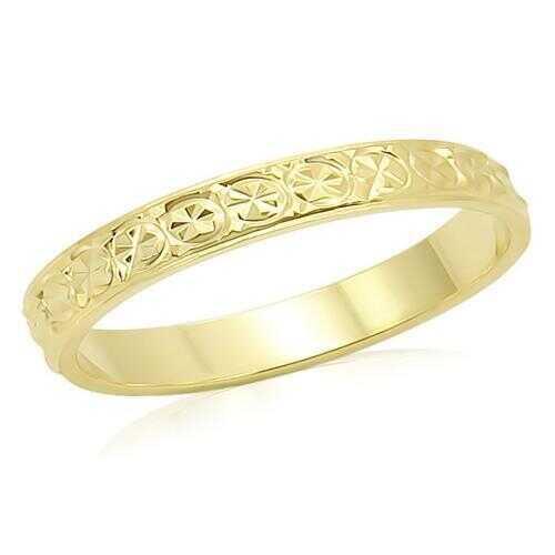 LO995 - Brass Ring Gold Unisex No Stone No Stone