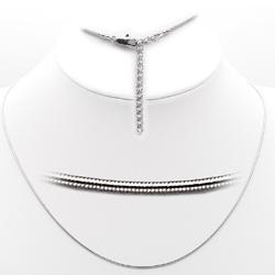 35325 - Brass Chain Rhodium Women No Stone No Stone