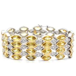 LO1459 - Brass Bracelet Gold+Rhodium Women AAA Grade CZ Topaz