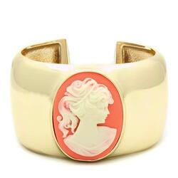 LO1964 - Brass Bangle Gold Women Synthetic Multi Color