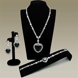 LO2327 - Brass Jewelry Sets Rhodium Women AAA Grade CZ Amethyst