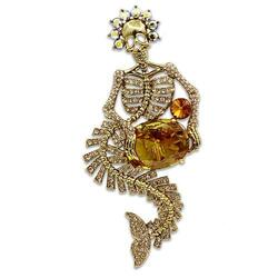 LO2411 - White Metal Brooches Gold Women AAA Grade CZ Topaz