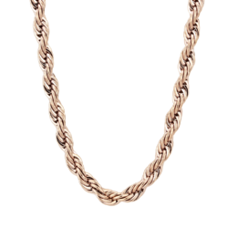TK2434R - Stainless Steel Chain IP Rose Gold(Ion Plating) Women No Stone No Stone