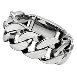 TK338 - Stainless Steel Bracelet High polished (no plating) Men No Stone No Stone