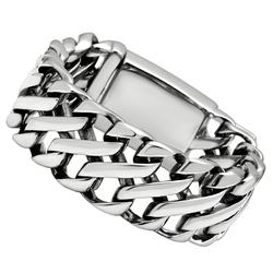 TK447 - Stainless Steel Bracelet High polished (no plating) Men No Stone No Stone