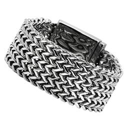 TK451 - Stainless Steel Bracelet High polished (no plating) Men No Stone No Stone