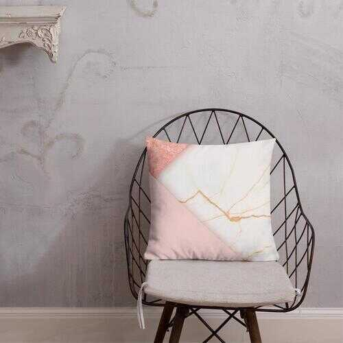 "Accent Pillows, Pearly Pink Decorative Pillow 18"" x 18"""