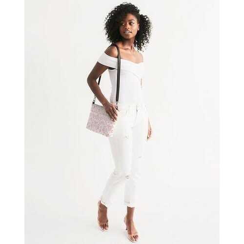 Shoulder Bags, Pearly Pink Aztec Style Shoulder Bag