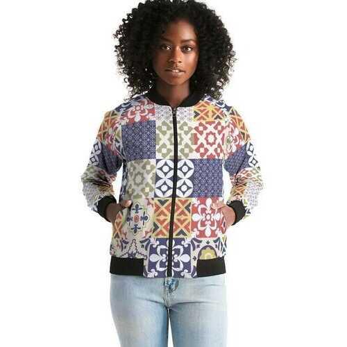 Pop Print Womens Bomber Jacket