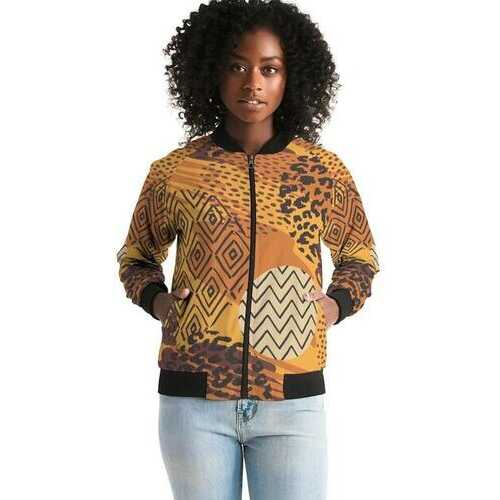 Womens Jackets, Brown Autumn Style Bomber Jacket
