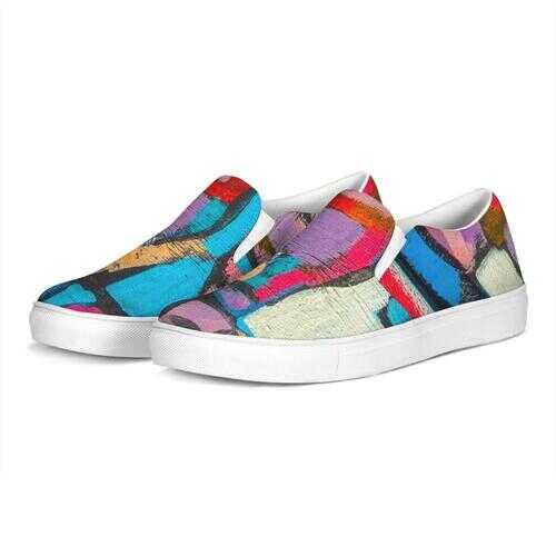 Colorful Sutileza Style Womens Slip-On Canvas Sneakers