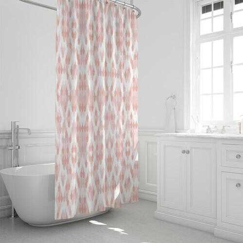 """Pearly Pink Shower Curtain 72""""x72"""""""