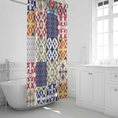"""Quilt Print Style Shower Curtain 72""""x72"""""""