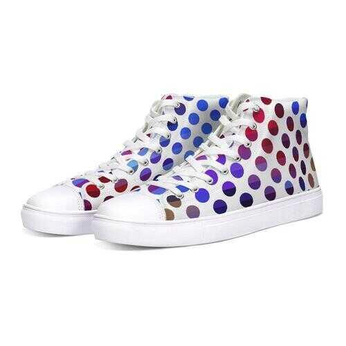 Polka Dot Fusion Hightop Canvas Sneakers