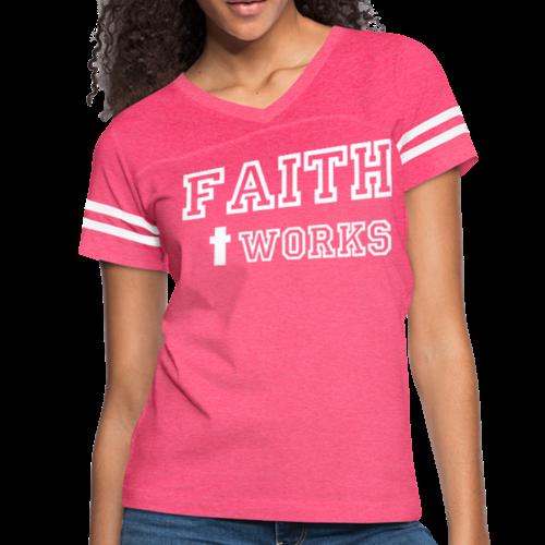 Faith + Works Vintage Style Womens Tee