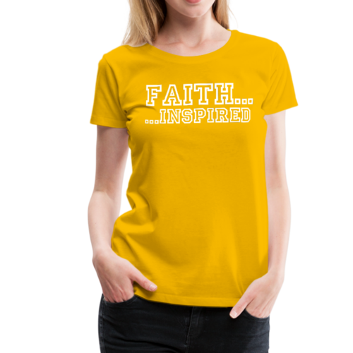 Faith Inspired Graphic Text Style Womens Classic T-Shirt