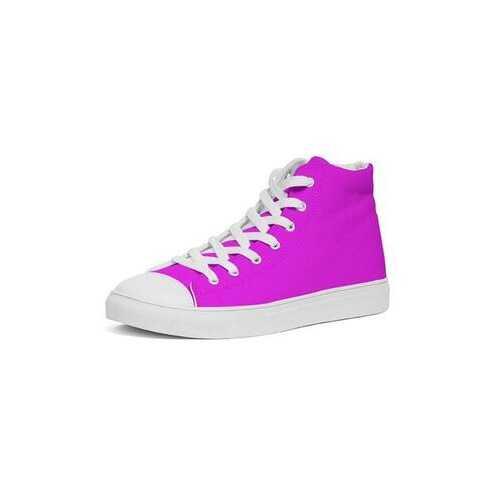 Hot Pink Womens Hightop Sneakers