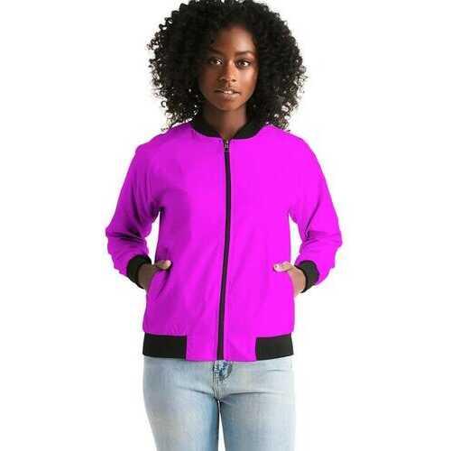Hot Pink Womens Bomber Jacket