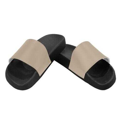 Flip-Flop Sandals, Dark Beige Womens Slides