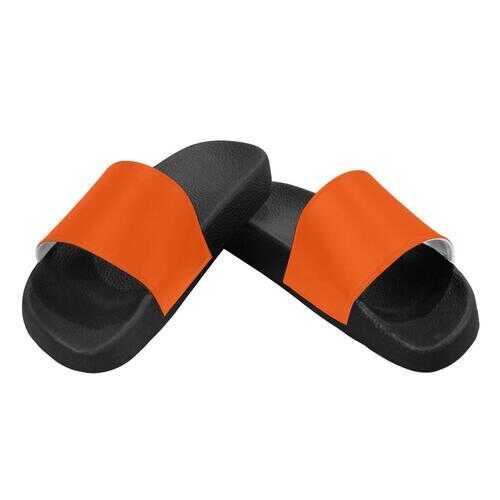 Flip-Flop Sandals, Bright Orange Womens Slides