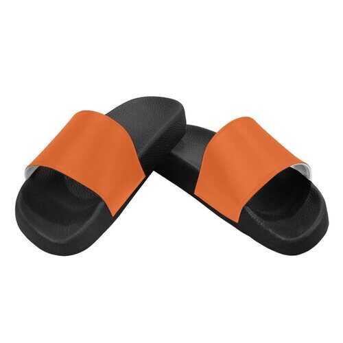 Flip-Flop Sandals, Autumn Orange Womens Slides