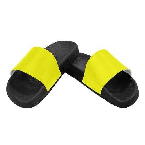 Flip-Flop Sandals, Bright Yellow Womens Slides